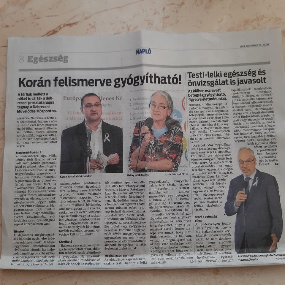 prosztatarák országos újság