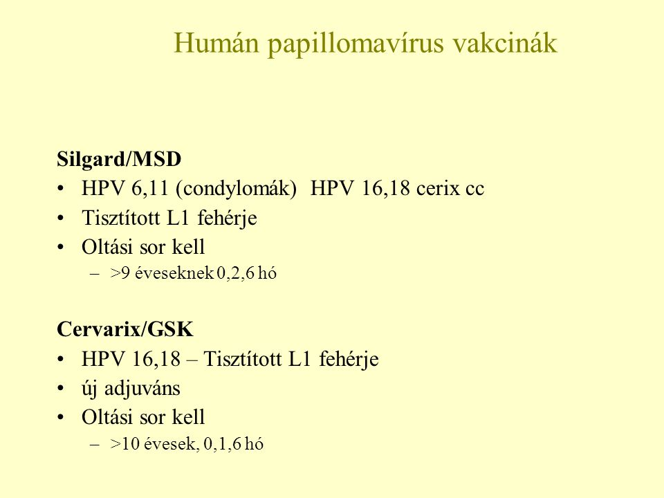 gyógyszerek a nők HPV kezelésére