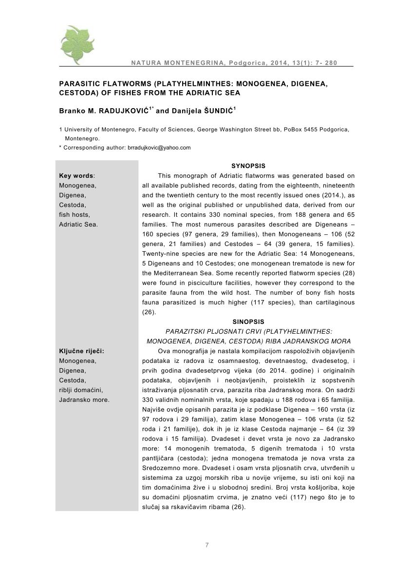 Tüdőmétely-fertőzés (paragonimiasis) - Nem parazita platyhelminthes